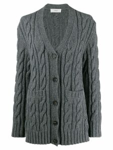 Pringle of Scotland cable-knit cardigan - Grey