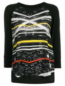 Ultràchic paparazzi print jersey top - Black