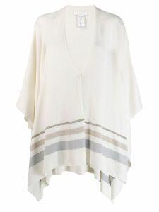 Fabiana Filippi oversized shawl cardigan - NEUTRALS