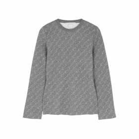 Stella McCartney Grey Monogrammed Wool-blend Jumper