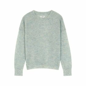 Isabel Marant Étoile Cliftony Pale Blue Mohair-blend Jumper