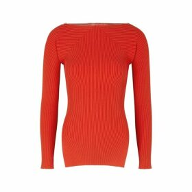 Alexander Wang Red Ribbed-knit Jumper