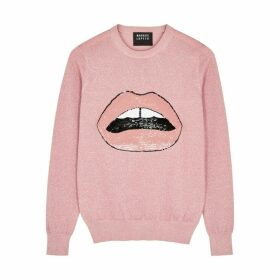 Markus Lupfer Mia Embellished Metallic-knit Jumper