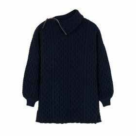 Loewe Navy Cable-knit Wool-blend Jumper