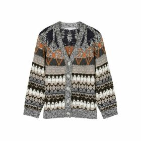 Stella McCartney Fair Isle Wool-blend Cardigan