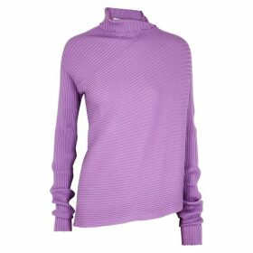MARQUES' ALMEIDA Lilac Asymmetric Wool Jumper