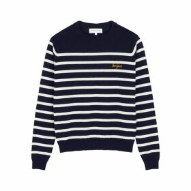 Maison Labiche Bonjour Striped Wool Jumper