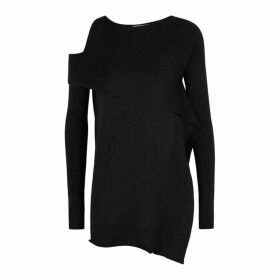 Crea Concept Black Cut-out Knitted Jumper