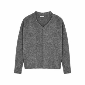 Crea Concept Dark Grey Mélange Knitted Jumper