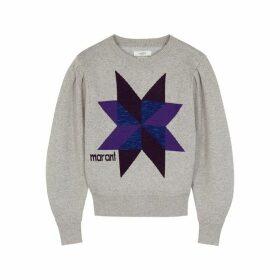 Isabel Marant Étoile Kyall Logo-intarsia Cotton-blend Jumper