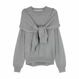 Alexander Wang Grey Mélange Wool-blend Jumper
