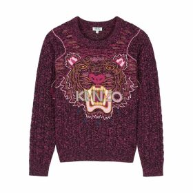 Kenzo Tiger-embroidered Wool-blend Jumper