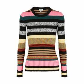Kenzo Striped Rib-knit Jumper