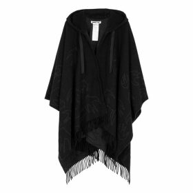 McQ Alexander McQueen Swallow-intarsia Wool-blend Poncho