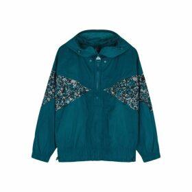Adidas X Stella McCartney Teal Panelled Shell Jacket