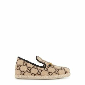 Gucci GG-print Sand Wool Loafers