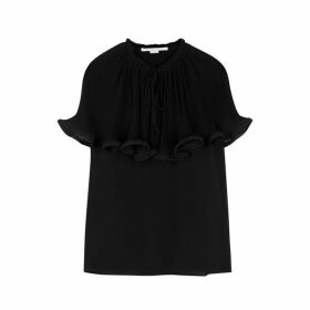 Stella McCartney Tarraleah Black Ruffle-trimmed Blouse