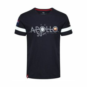 Alpha Industries Apollo 50 Reflective Tee Rep Blue