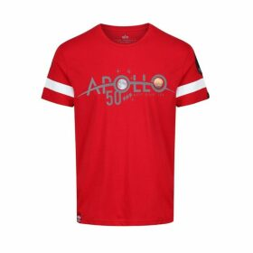 Alpha Industries Apollo 50 Reflective Tee Speed Red