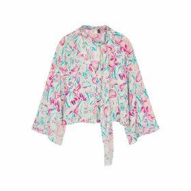 RIXO Kim Floral-print Blouse