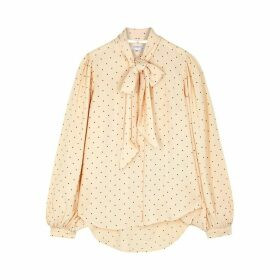 Equipment Cleone Cream Polka-dot Blouse
