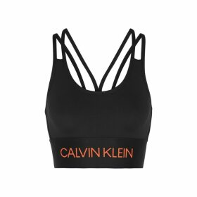 Calvin Klein Performance Black Logo Stretch-jersey Bra Top