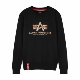 Alpha Industries Black Logo Jersey Sweatshirt