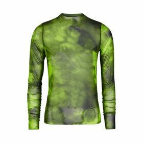 MARQUES' ALMEIDA Lime Tie-dye Mesh Top