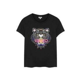 Kenzo Black Tiger-print Cotton T-shirt