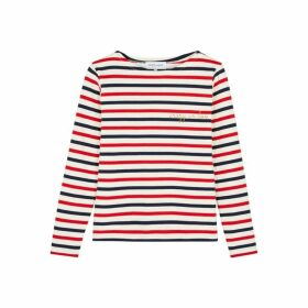 Maison Labiche Crazy In Love Striped Fine-knit Cotton Top