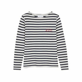 Maison Labiche Oh Lá Lá! Striped Fine-knit Cotton Top