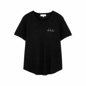 Maison Labiche Oh Lá Lá! Black Jersey T-shirt