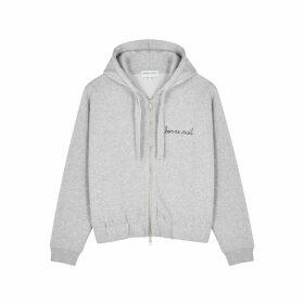 Maison Labiche Bonne Nuit Grey Mélange Cotton Sweatshirt