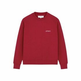 Maison Labiche Amour Red Cotton Sweatshirt