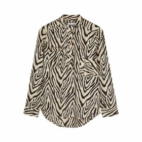 Current/Elliott B50 Zebra-print Blouse