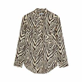 Current/Elliott B50 Zebra-print Blouse