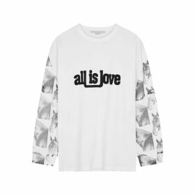 Stella McCartney All Is Love White Cotton-blend Top