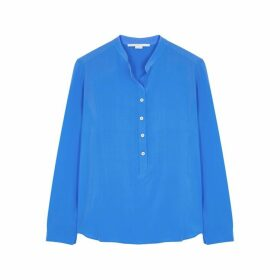 Stella McCartney Eva Blue Silk Blouse