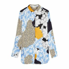 BY MALENE BIRGER Cologne Floral-print Satin Shirt