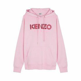 Kenzo Pink Logo-embroidered Cotton Sweatshirt