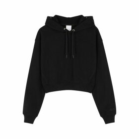 Reebok X Victoria Beckham Black Logo-embroidered Cotton Sweatshirt