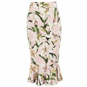 Dolce and Gabbana Lilium Frilly Maxi Skirt