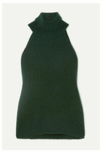 Jacquemus - Baho Ribbed Wool-blend Turtleneck Top - Forest green