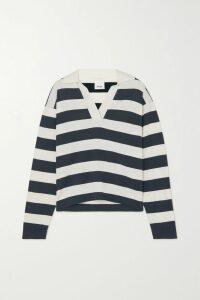 Moncler - Printed Cotton-blend Jersey Sweatshirt - Gray