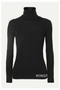 Moncler - Ribbed Wool Turtleneck Top - Black