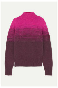 Dries Van Noten - Taraz Ombré Knitted Turtleneck Sweater - Fuchsia