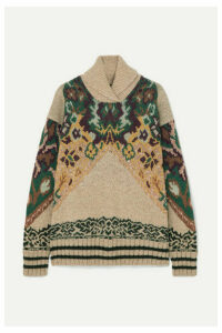 Etro - Wool-blend Jacquard Turtleneck Sweater - Beige