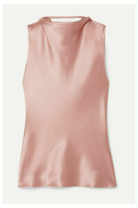 Cushnie - Draped Silk-satin Top - Antique rose