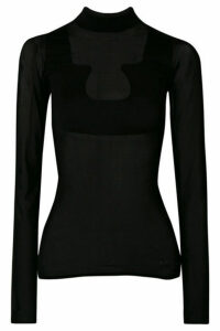COURREGES - + Gerbe Stretch-jersey Turtleneck Top - Black