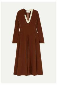 Wales Bonner - Crepe Midi Dress - Brown